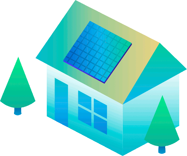 Image of a solar powered house