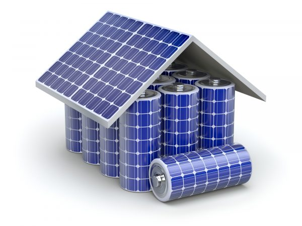Graphic of a solar house